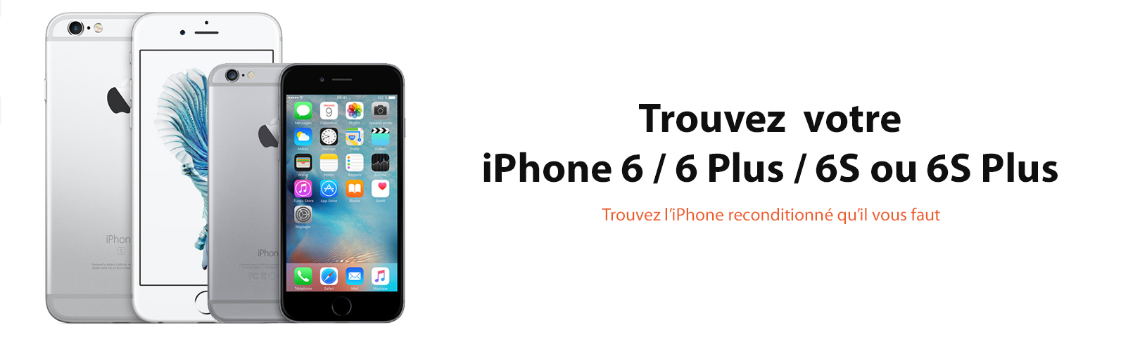 iphone 6 6s 6Plus 6Splus reconditionne france 64 128 blanc noir