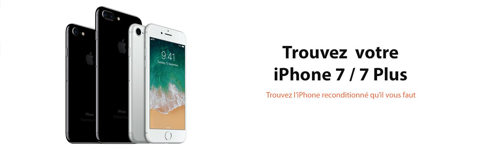 iphone 7 7plus reconditionne black noir silver gris france ynotek 64 128